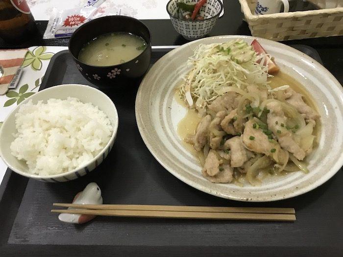 国境食堂haruの生姜焼き定食