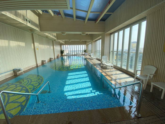 リオの最上階にあるプールは眺めが良い。